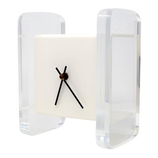 Mid-Century Modern Floating Lucite Clock