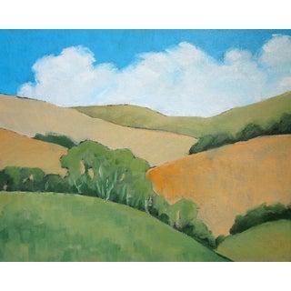 Malibu Hills California Oak Eucalyptus Trees Landscape Lynne French For Sale