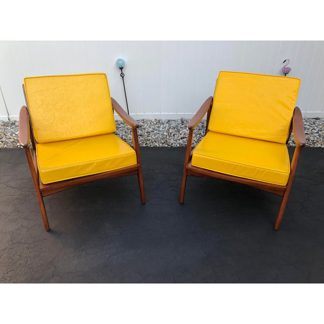 Mid Century Danish Modern Lounge Chairs- a Pair For Sale - Image 13 of 13