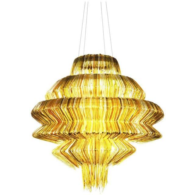 Resin Brilli D Chandelier in Gold Resin by Jacopo Foggini For Sale - Image 7 of 7