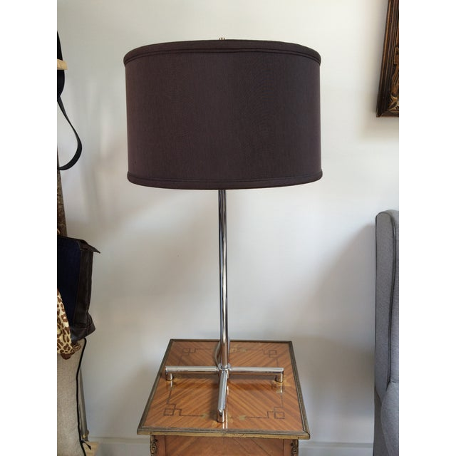 Contemporary Nessen Chrome X-Base Table Lamp For Sale - Image 3 of 6