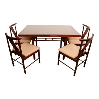 Asian Danish Modern Style Rosewood Dining Set