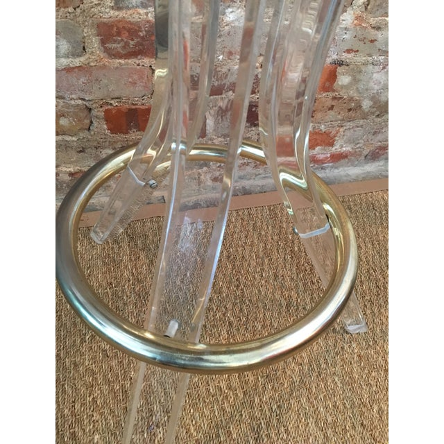 Vintage Lucite Swivel Bar Stools - a Pair - Image 6 of 6