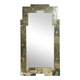 Art Deco Style Distressed Venetian Wall or Console Mirrors- a Pair