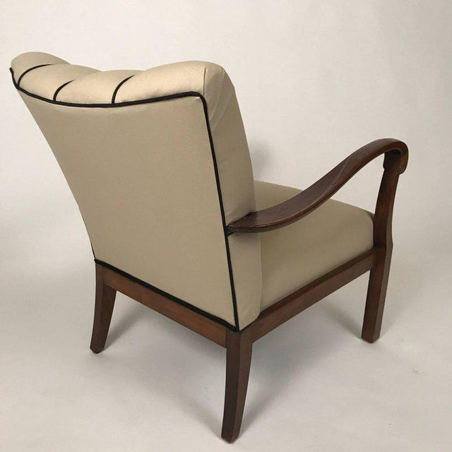 Art Deco Danish Modern Mahogany Armchairs - A Pair For Sale - Image 3 of 6