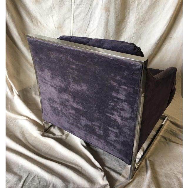 1970s 1970s Vintage Bernhardt Flair Chrome Frame Club Chair For Sale - Image 5 of 8