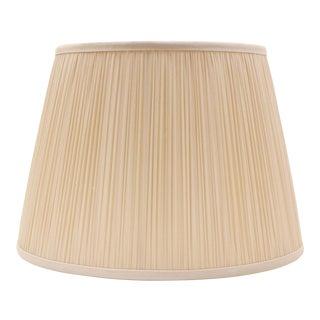 """Shirred Silk Lamp Shade 18"""", Blush For Sale"""