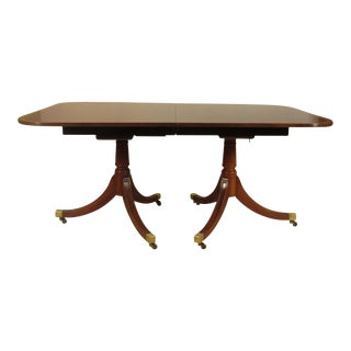 1950s Regency-Style Inlaid Dining Table For Sale