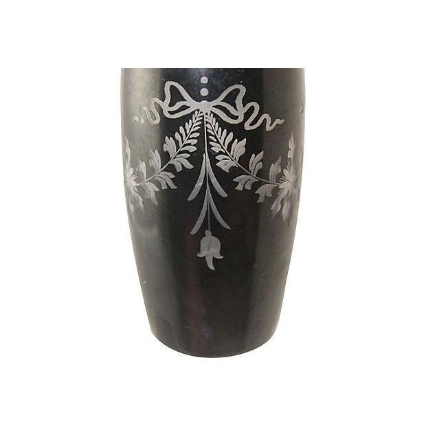 1930s Steuben Black Cut Glass Vase Chairish