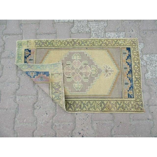 Mid-Century Modern 1960s Turkish Pastel Wool Rug For Sale - Image 3 of 4