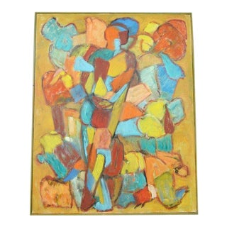 Orgie' by Eva Beyer - Oil on Canvas Painting '98 For Sale