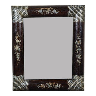 Early 20th C. Vietnamese Mother of Pearl Inlaid Mirror For Sale
