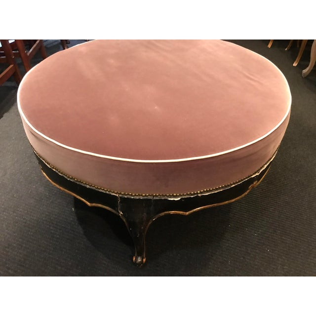 French Vintage French Victorian Ottoman For Sale - Image 3 of 4
