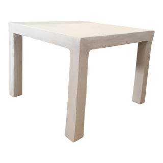 White Plaster Side Table For Sale