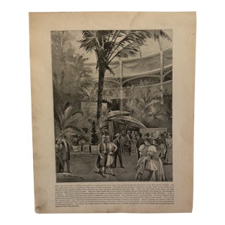 """Antique World's Columbian Exposition Print """"Amid the Palm and Cypress"""" For Sale"""