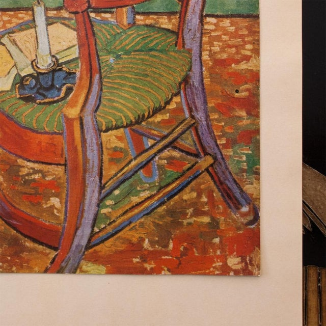 "Green C.1940s Van Gogh, ""Gauguin's Armchair"" Parisian Lithograph For Sale - Image 8 of 11"