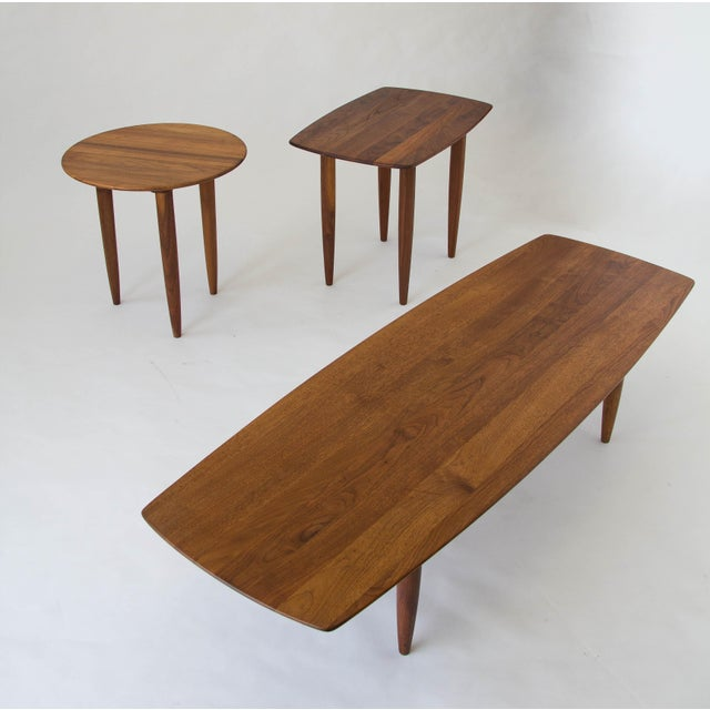 Wood Prelude Walnut Side Table For Sale - Image 7 of 7