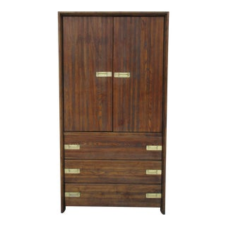 White Furniture Company Campaign Style Armoire For Sale