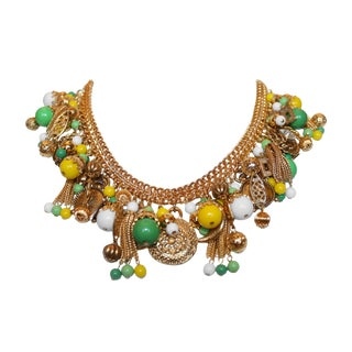 Francoise Montague Green & Yellow Pontresina Necklace For Sale