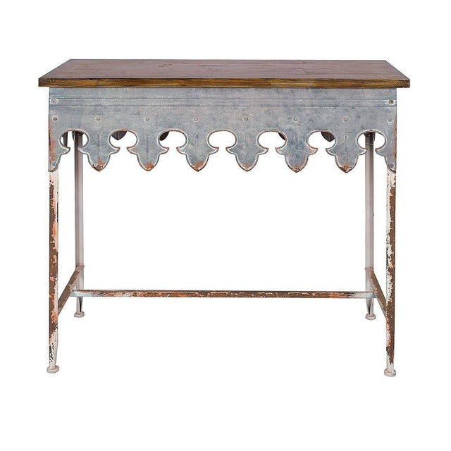 French St. Tropez Scalloped Table For Sale - Image 3 of 3