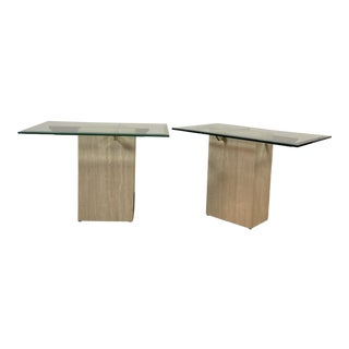 1970s Artedi Italian Marble Side Tables - a Pair For Sale