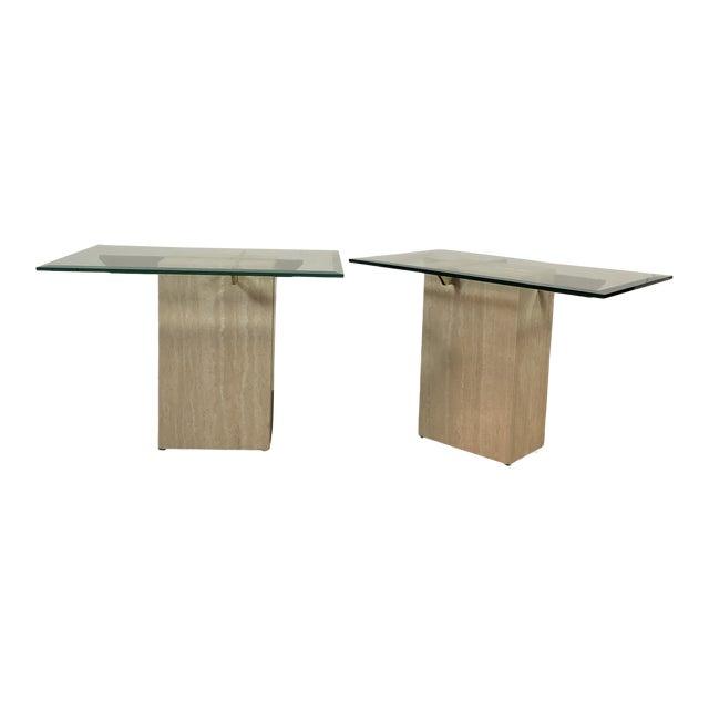 1970s Artedi Italian Marble Side Tables - a Pair For Sale