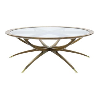 1960s Danish Modern Spider Leg Coffee Table For Sale