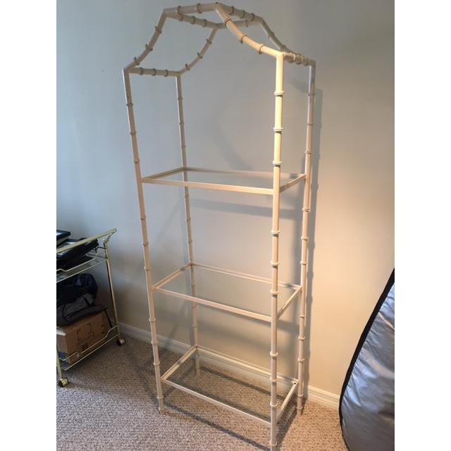 Vintage Faux Bamboo Etagere For Sale - Image 4 of 8