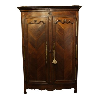 1830's Chestnut French Armoire For Sale