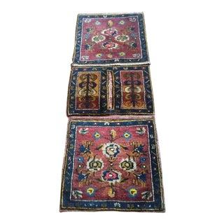 """Antique Cappadocia Settle Bag Handwoven Rug - 4'11"""" x 1'10"""""""
