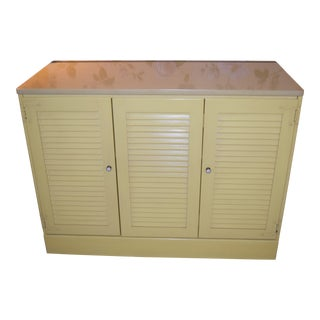 Ethan Allen Yellow Media Cabinet or Storage Cabinet For Sale