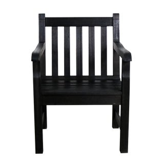Vintage Windsor Blackened Teak Outdoor Armchair For Sale
