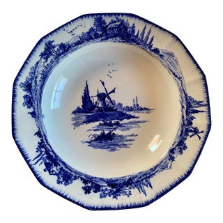 English Blue and White Bowl by Doulton Burslem For Sale