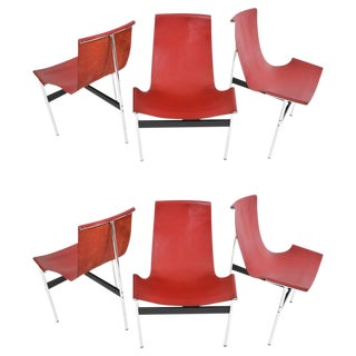 T-Chairs by Katavolos, Little and Kelly - Set of 6 For Sale