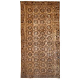 1900s Handmade Antique Uzbek Khotan Rug 6.2' X 12.10' For Sale