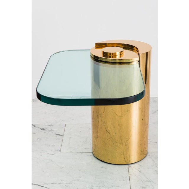 Modern Polished Bronze Sculpture Leg Table, Usa For Sale - Image 3 of 10