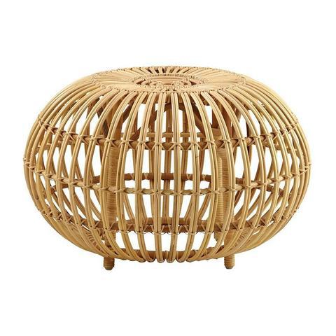Franco Albini designed this timeless rattan ottoman, a piece of furniture that is a truly unique and artistically elegant....