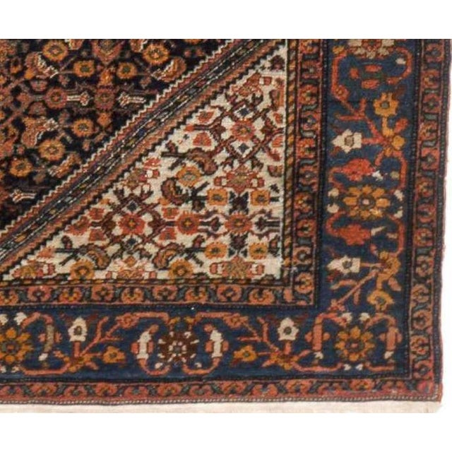 "Antique Persian Senneh Rug - 4'11"" x 6'6"" For Sale - Image 4 of 4"