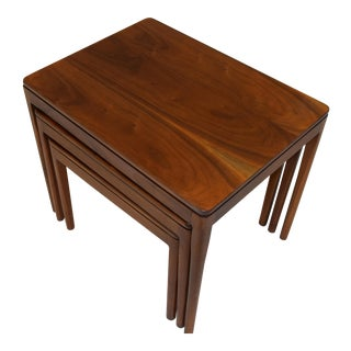 Mid-Century Modern Drexel Walnut Nesting Tables - Set of 3 For Sale