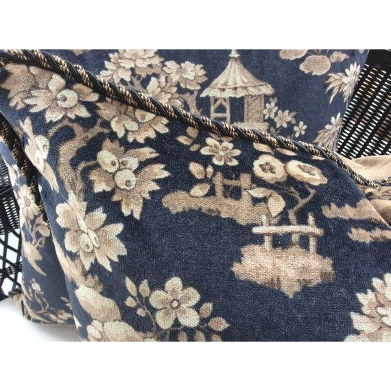 Ralph Lauren Pillows in Silk Road Black & Taupe Velvet Toile - A Pair - Image 3 of 3
