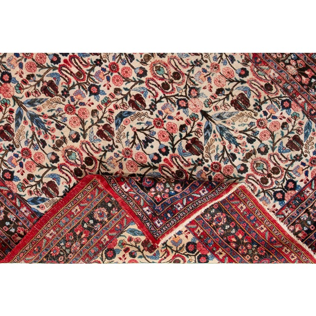 """Persian Vintage Persian Rug, 8'10"""" X 12'09"""" For Sale - Image 3 of 9"""