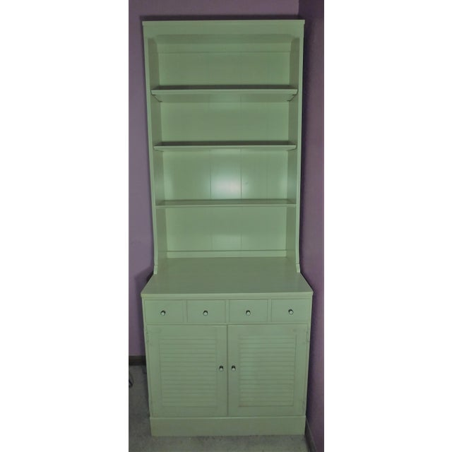 Metal Ethan Allen Cabinet & Hutch For Sale - Image 7 of 7