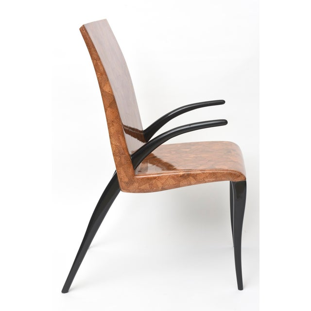 R & Y Augousti Rare R & Y Augousti Coconut, Tobacco and Ebony Armchair or Deskchair For Sale - Image 4 of 6