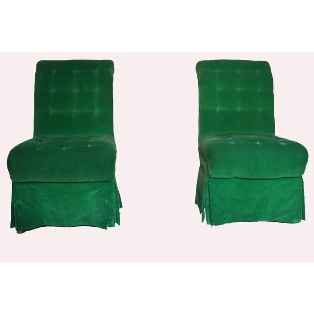 Beautiful green nook chairs. Accent chairs that will enhance any room.