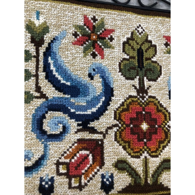 Vintage Swedish/Scandinavian Wall Hanging/Tapestry For Sale - Image 4 of 6