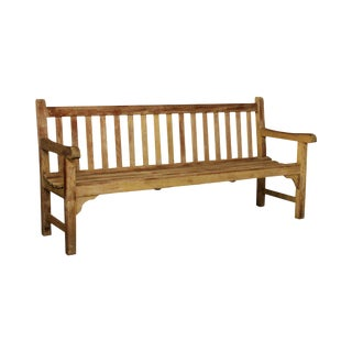 """Country Casual 72"""" Solid Teak Garden Settee Bench For Sale"""