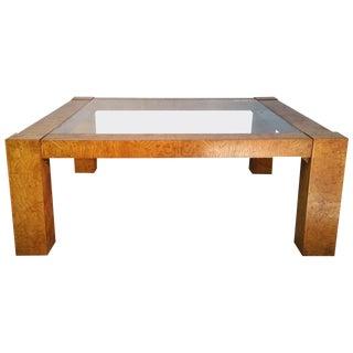 Milo Baughman for Lane Modernist Burl Cocktail Table For Sale