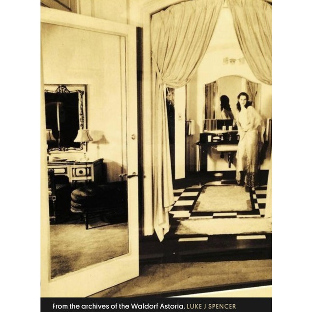 This is a 1930s mirror that hung in the Waldorf Astoria hotel in New York City when it first opened in 1931. It is a...