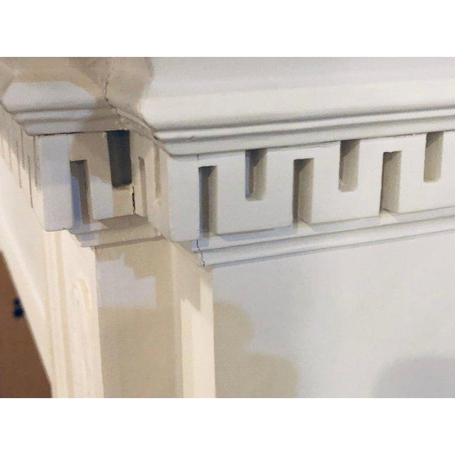 Neoclassical Monumental Hand Carved Fire Place Surrounds - a Pair For Sale - Image 11 of 13