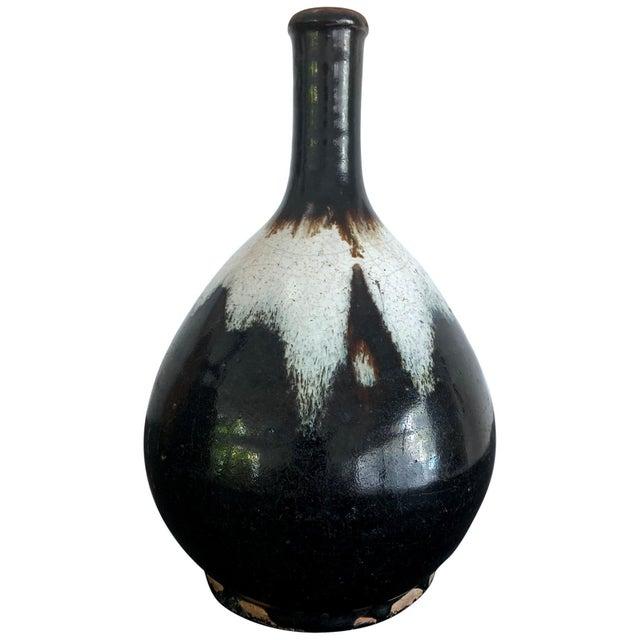 Japanese Ceramic Sake Bottle Chosen Karatsu Ware For Sale - Image 12 of 12